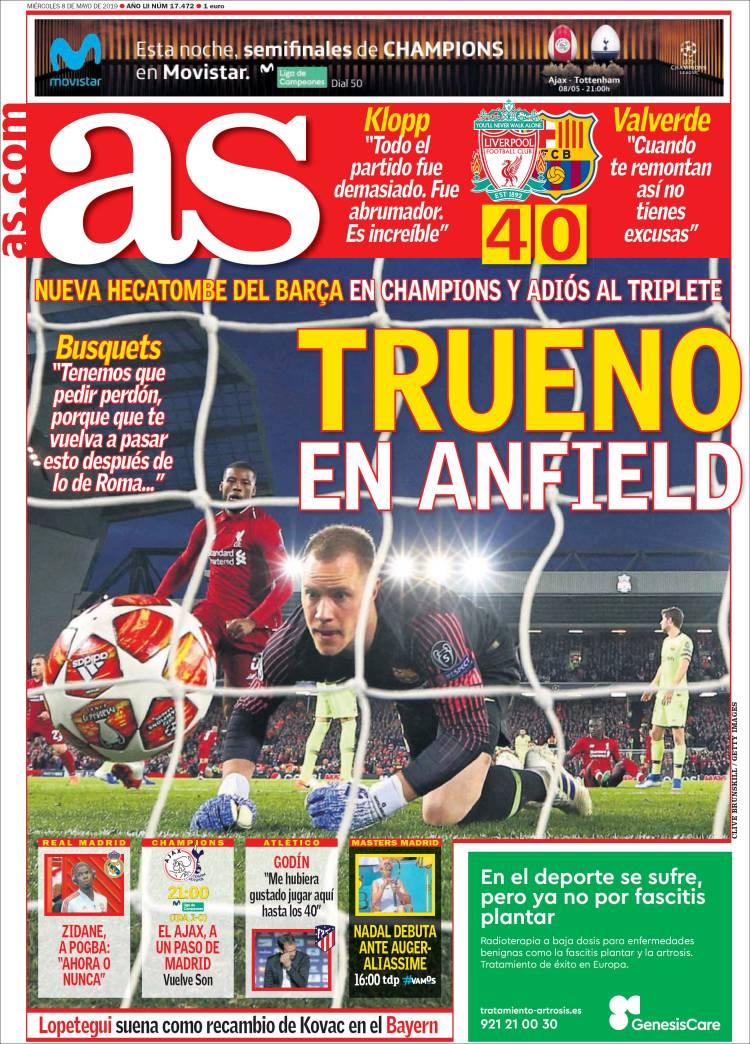 AS Liverpool Barcelona Headlines