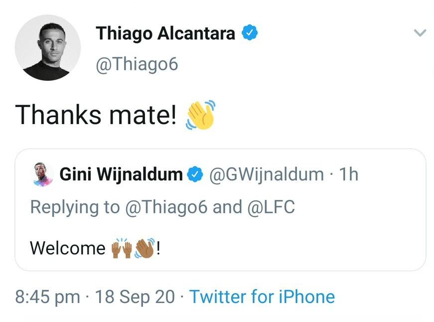 Thiago Alcantara Wijnaldum Twitter